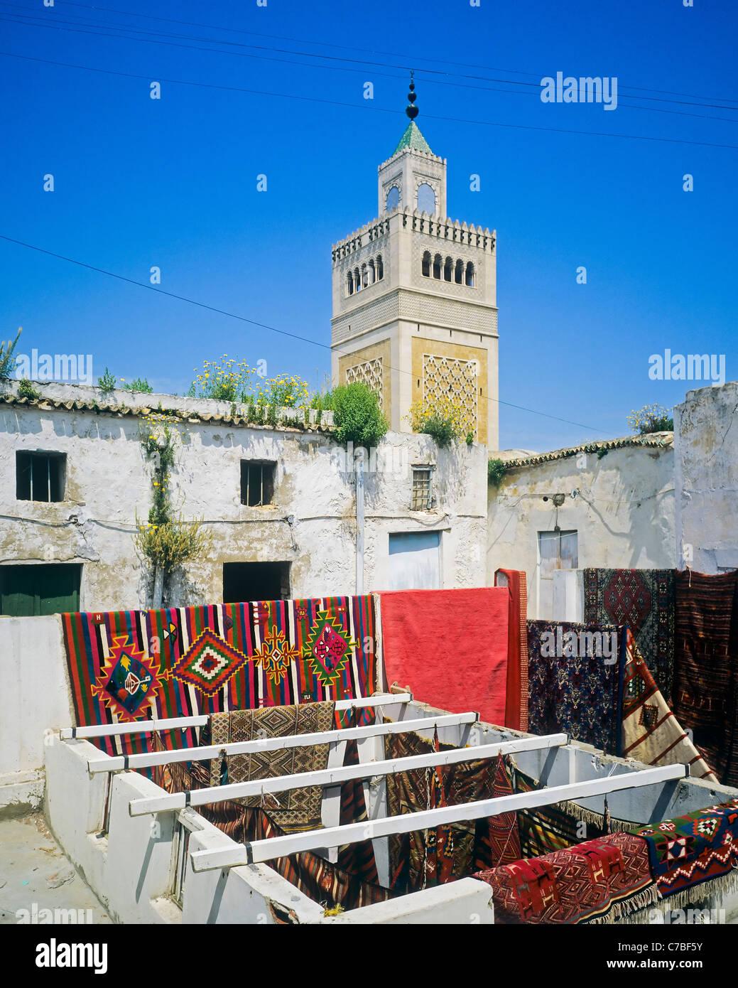 Túnez áfrica Del Norte La Antigua Medina Alfombras