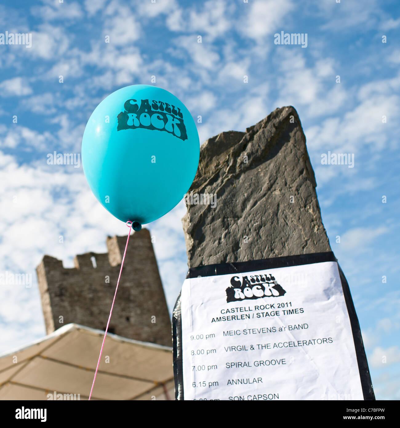 Rocío y Castell / Castle Rock festival de música libre Gales Aberystwyth UK Imagen De Stock