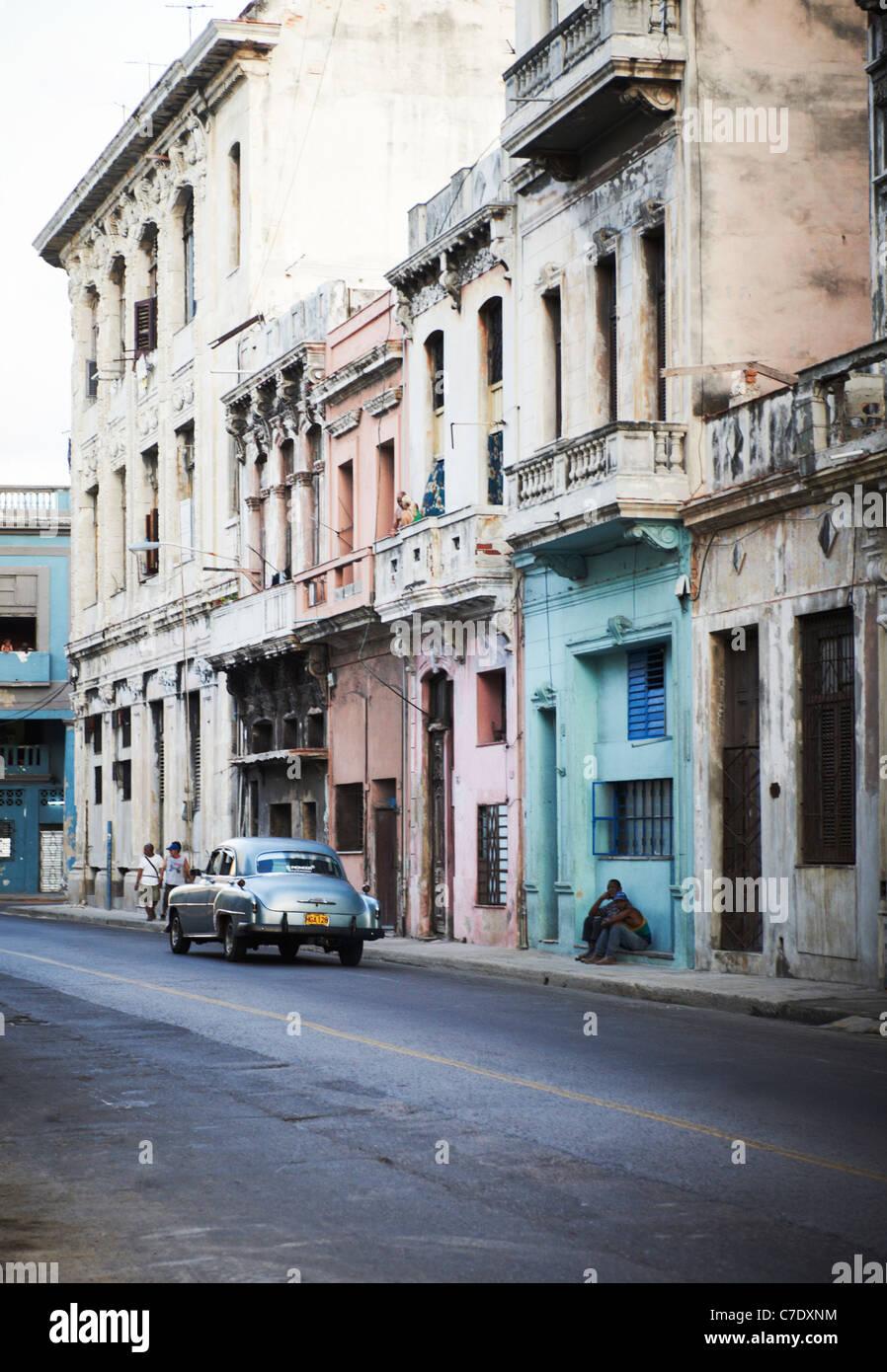 Escena de una calle de La Habana Cuba Imagen De Stock