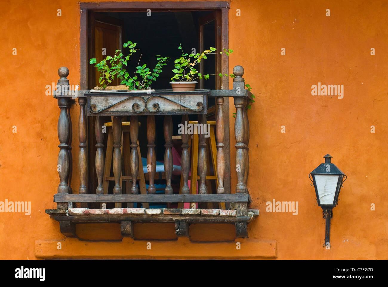 La arquitectura de Cartagena de Indias, Colombia Imagen De Stock
