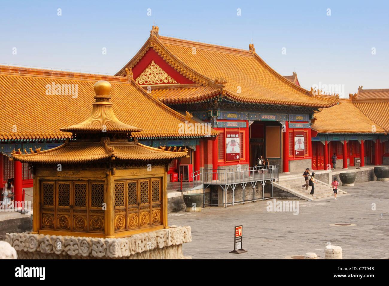 China, la Ciudad Prohibida de Beijing en el Palacio Imperial Foto de stock