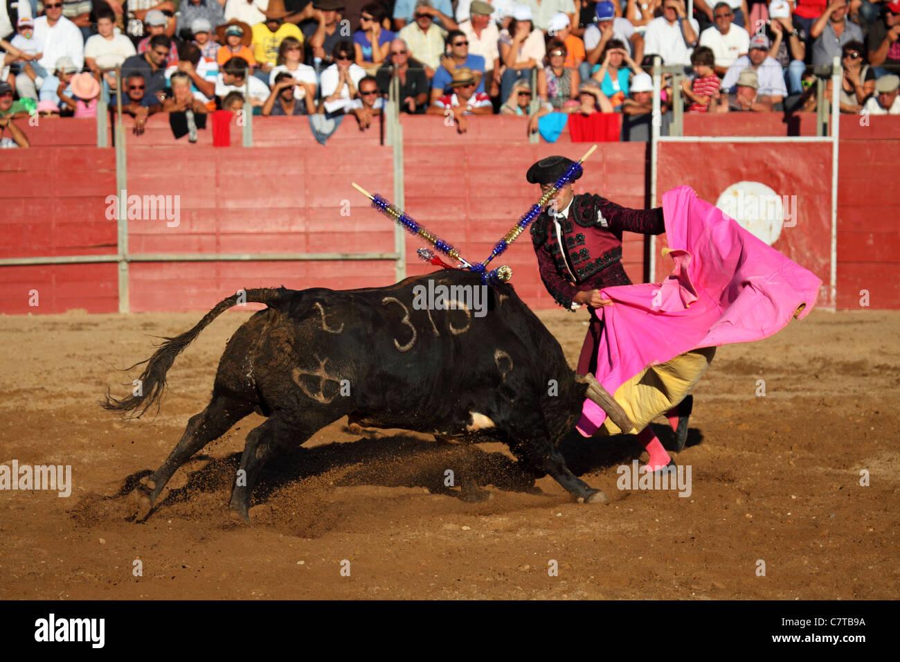 El Torero (Bandarilheiro) Jose Russiano en acción durante una corrida de  toros en Mafra fc4ec5ab27d