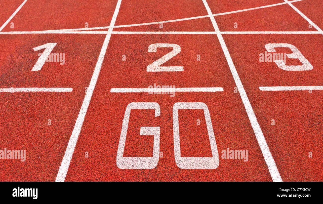 Pista de Atletismo Ir Imagen De Stock