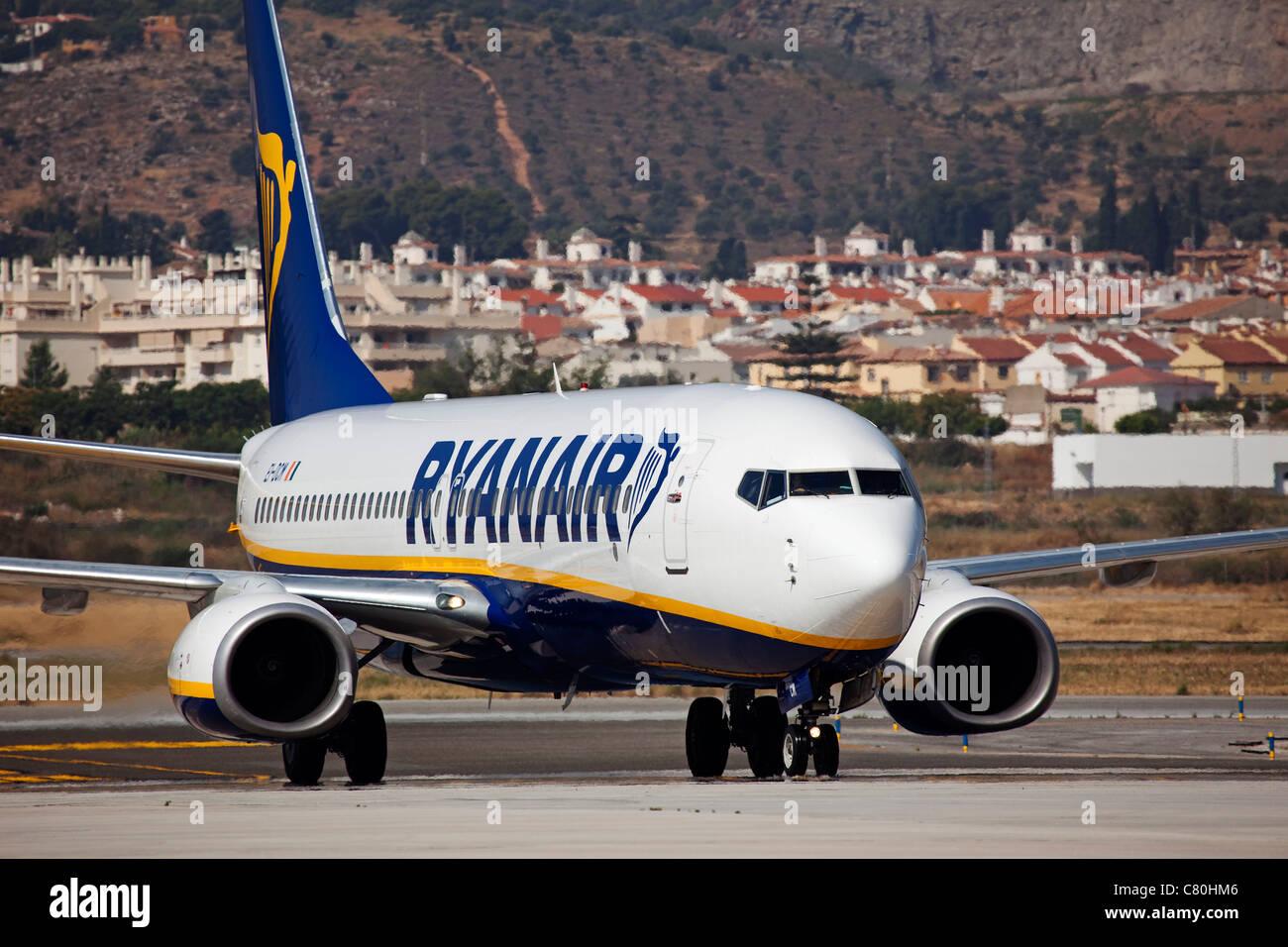 En avión El aeropuerto de Málaga Costa del Sol Andalucía España Imagen De Stock