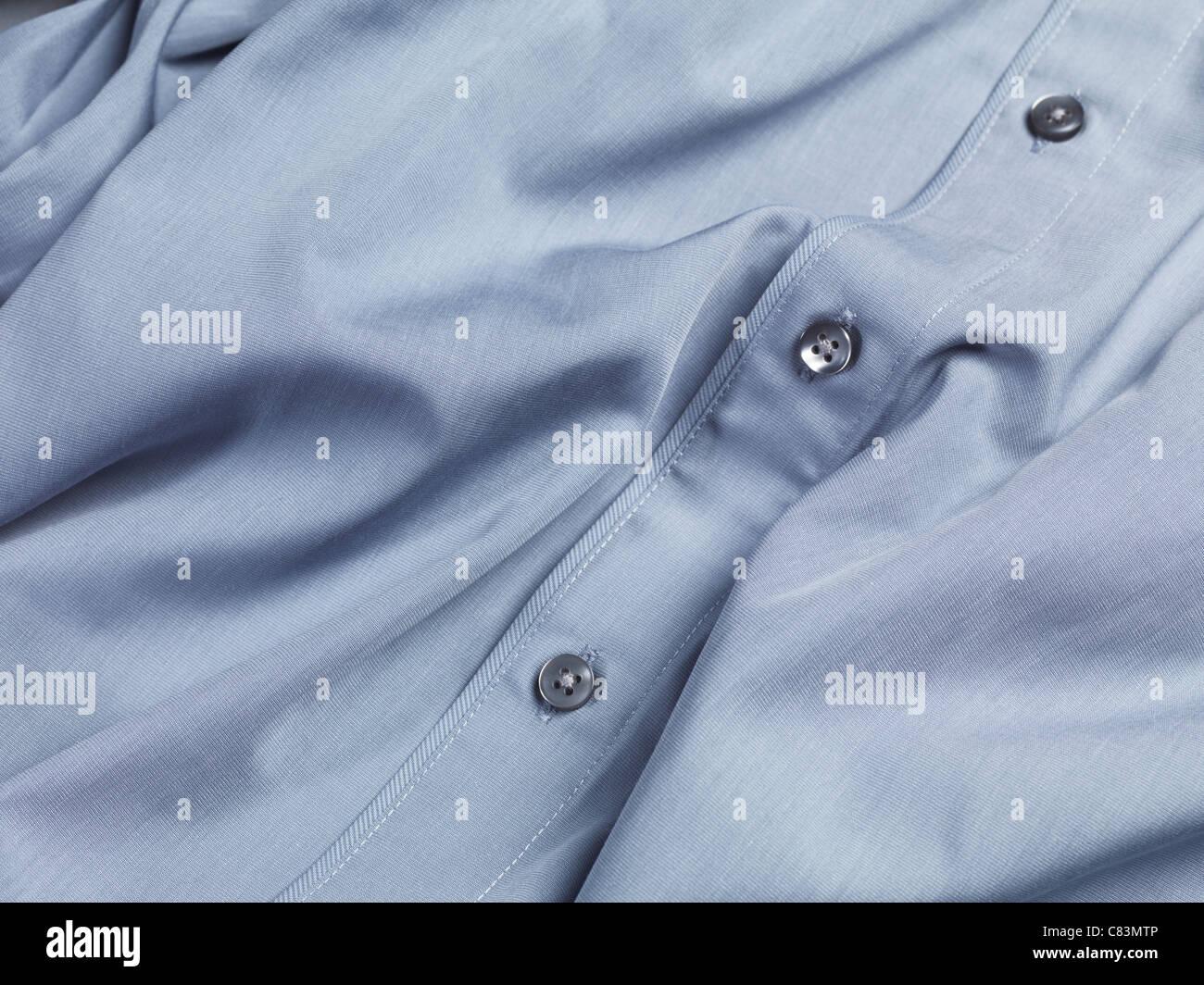 Primer plano de un mens camisa de vestir Imagen De Stock