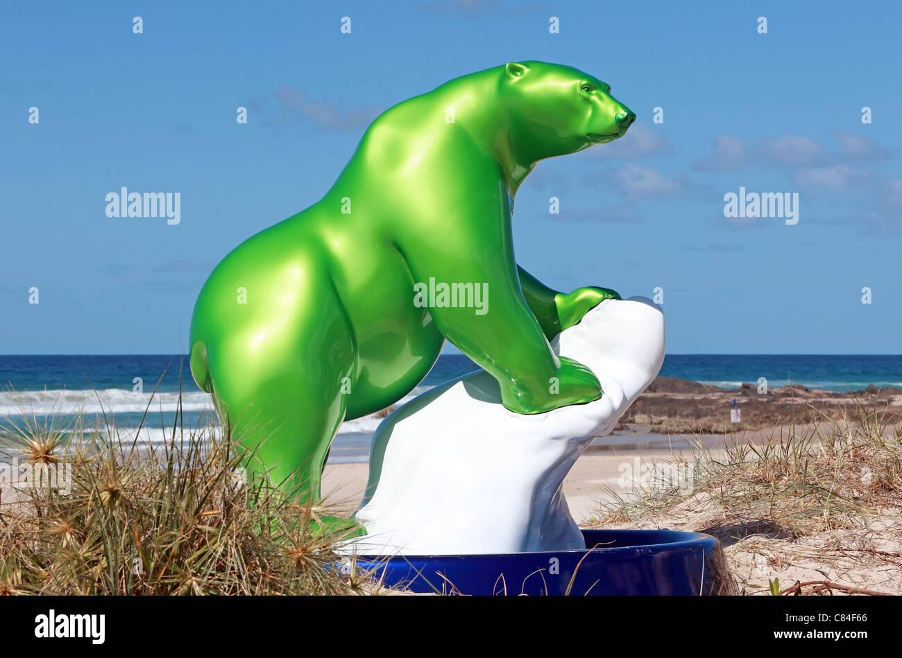 Único Oso Polar Del Arte Del Uña Ornamento - Ideas Para Pintar Uñas ...