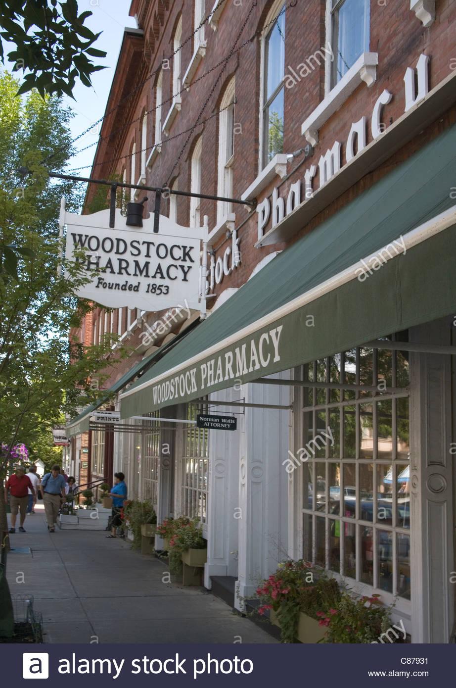 Woodstock vermont farmacia Imagen De Stock