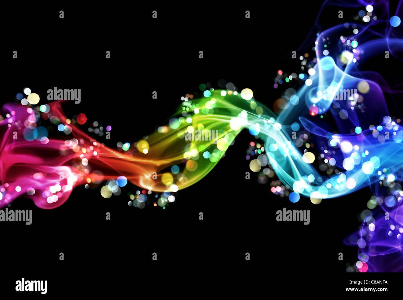 Humo y luces coloridas Imagen De Stock