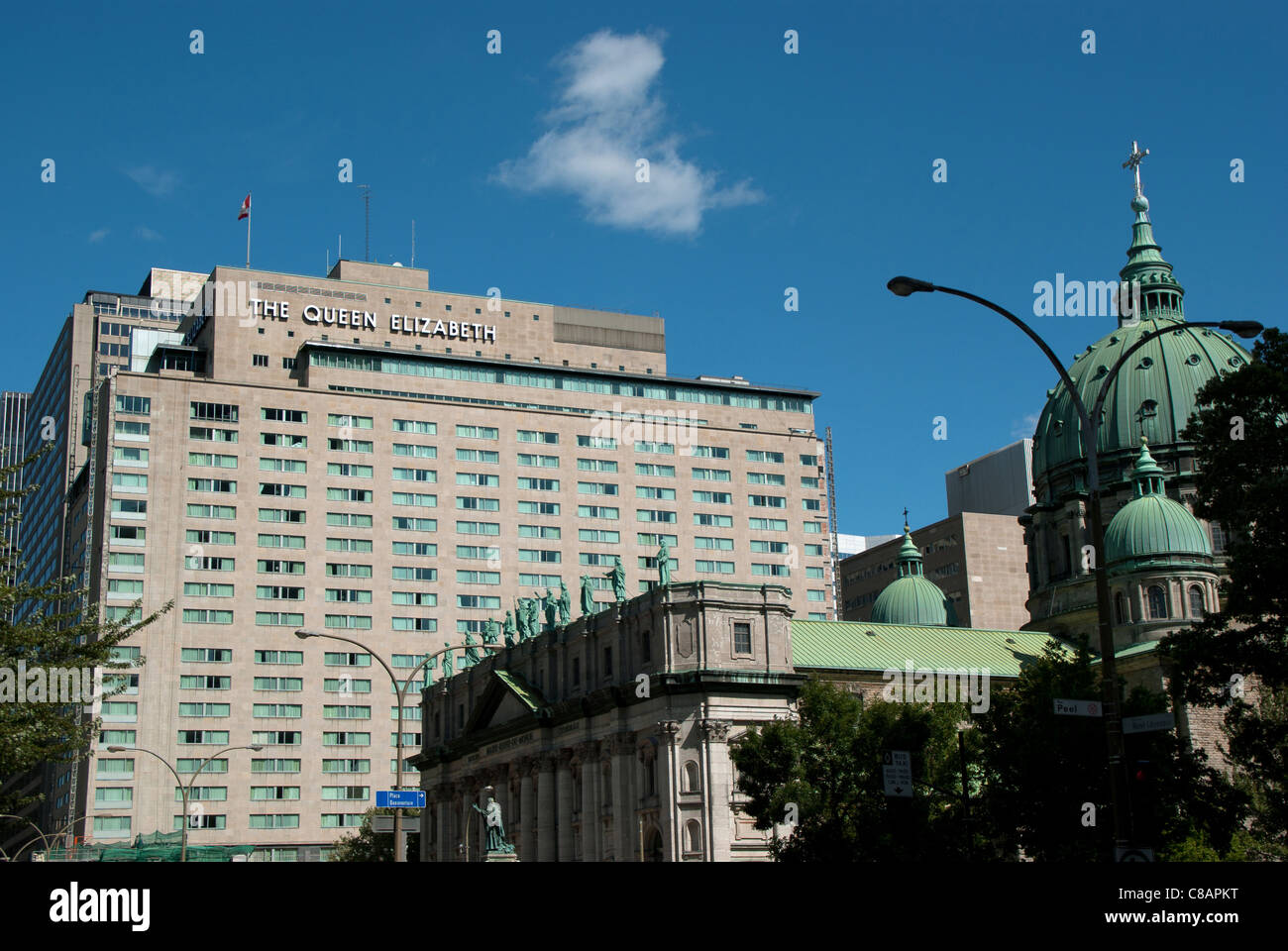 El Hotel Queen Elizabeth de Montreal, Quebec, Canadá Foto de stock