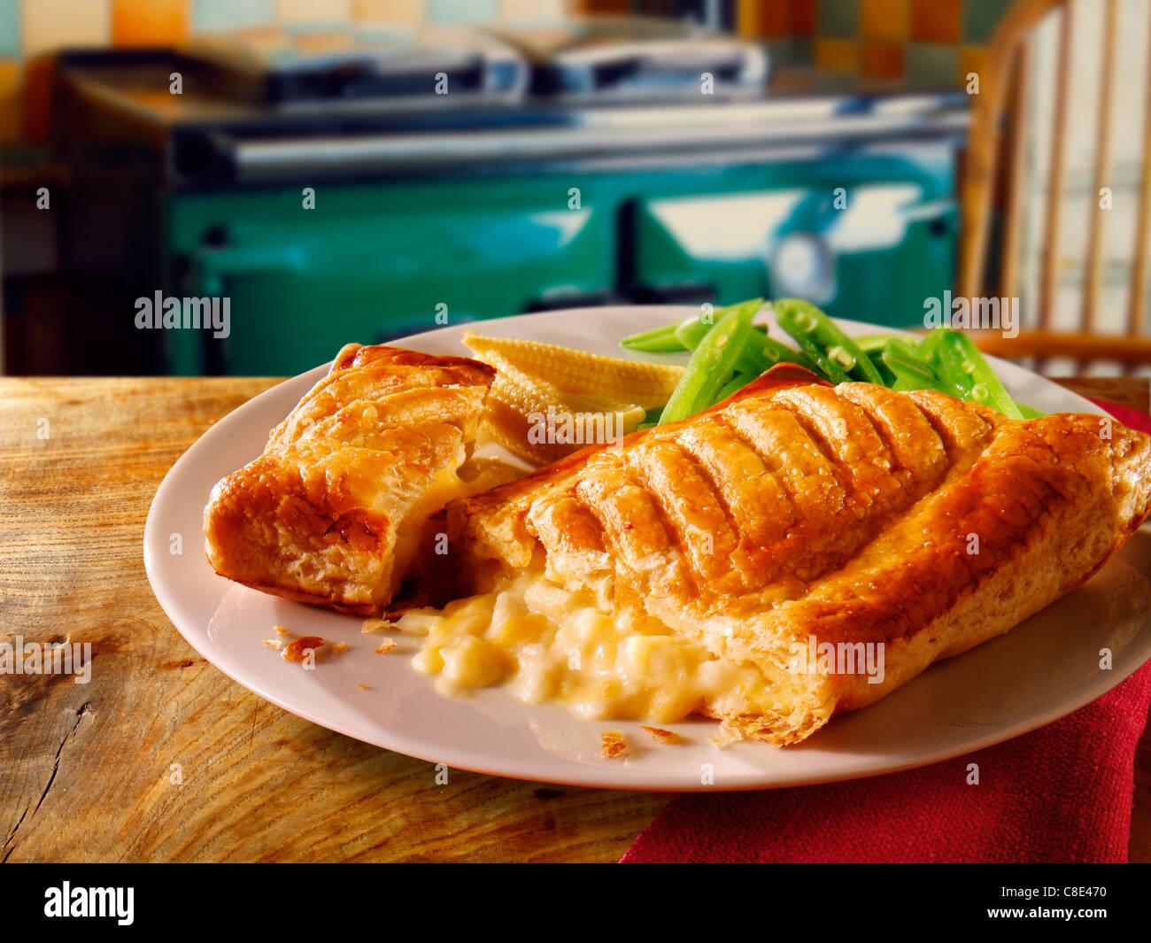 Queso de pasta de celosía y frijoles comida Imagen De Stock
