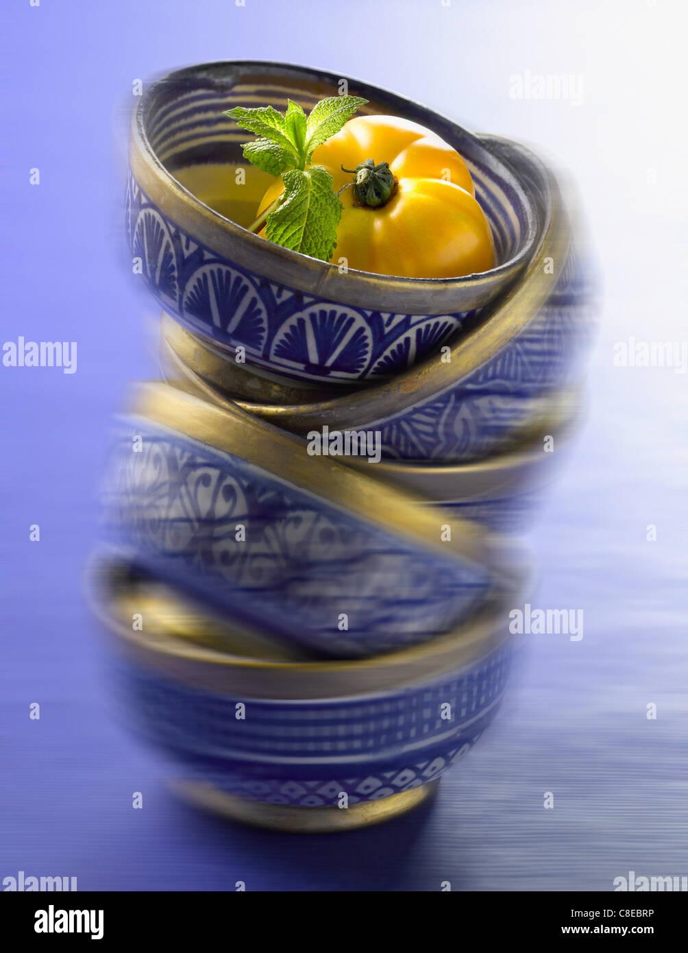 Tazones de sopa Imagen De Stock