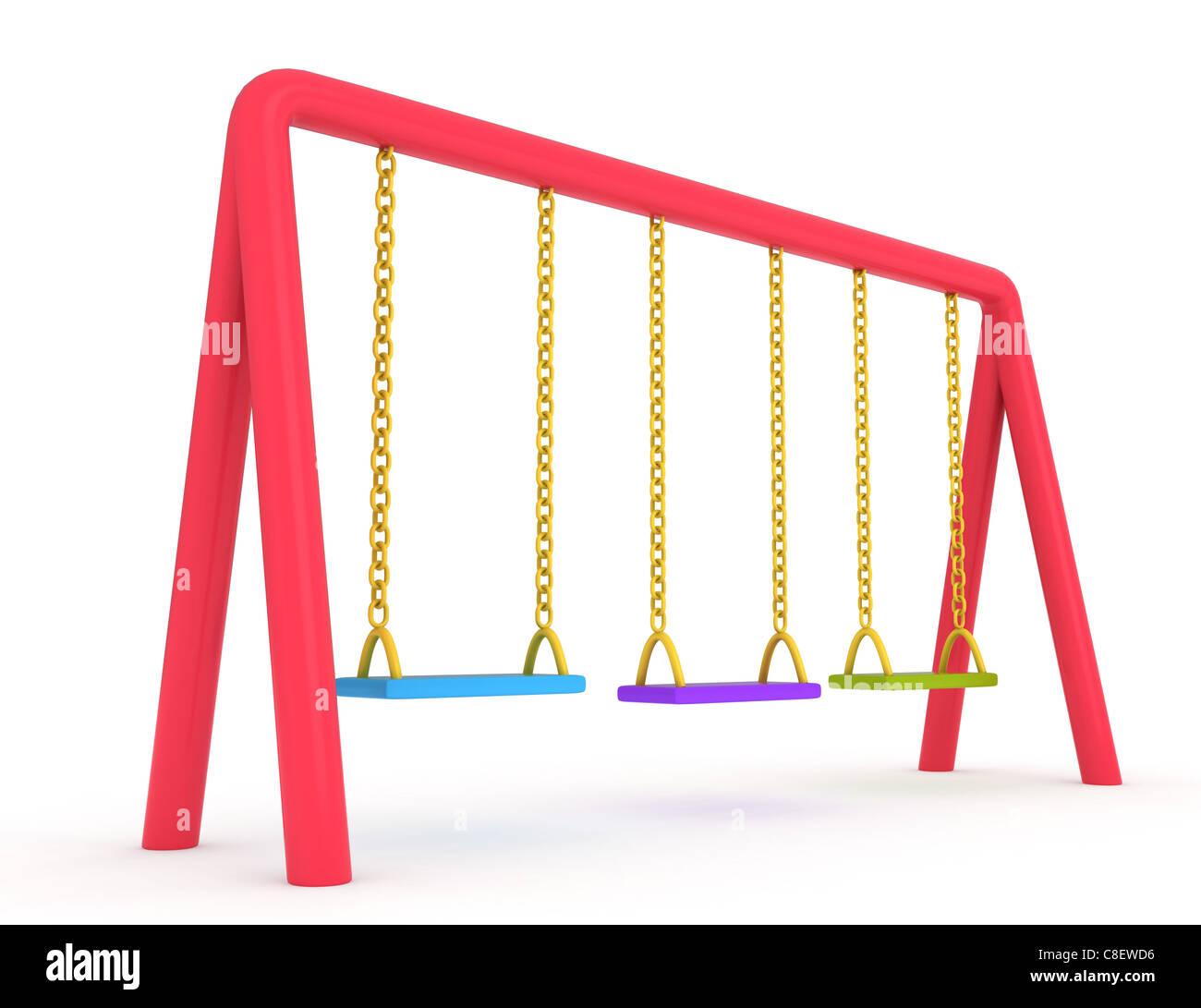 Ilustración 3D de columpios Imagen De Stock