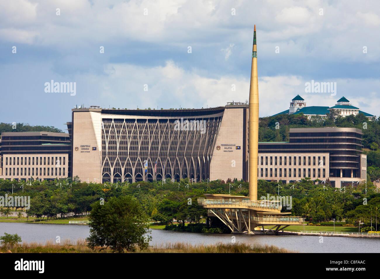 Malasia, Asia, cerca, cerca de Kuala Lumpur, Putrajaya, pueblo, ciudad, arquitectura, construcción, Ministerio Imagen De Stock