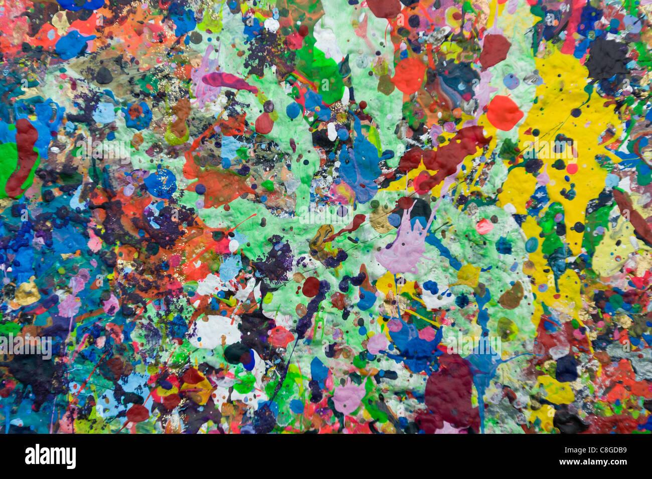 Manchas De Pintura En Una Pared Cape Town South Africa Fotografía De Stock Alamy