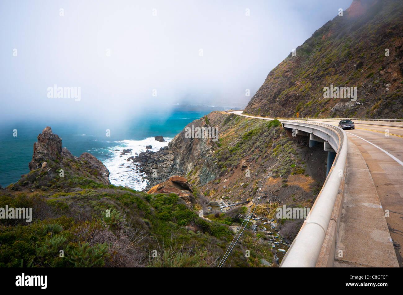 La Highway 1, California, Estados Unidos de América Foto de stock