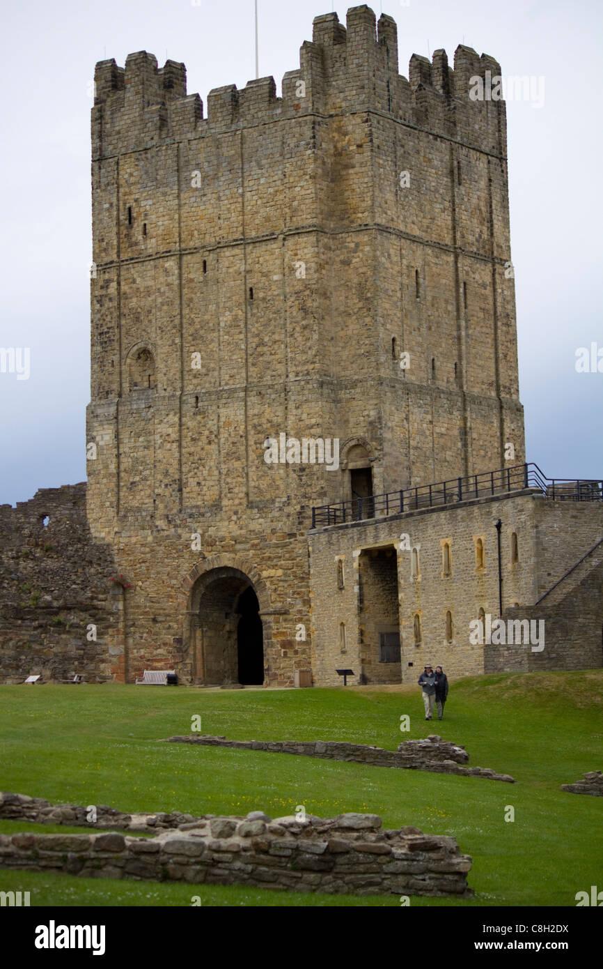 Mantener el castillo de Richmond, en Yorkshire, Inglaterra Imagen De Stock