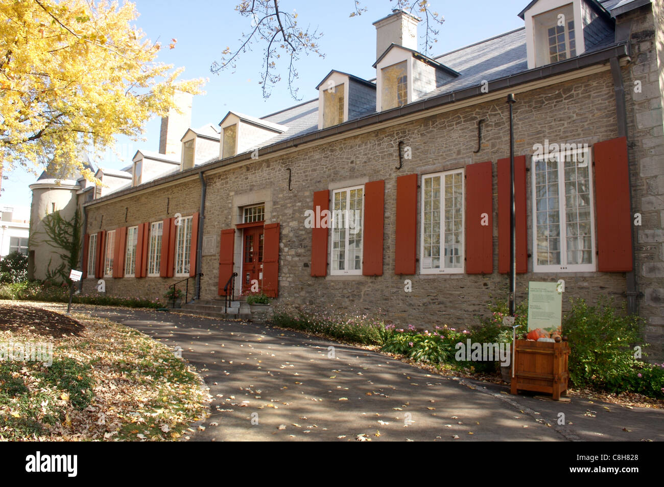 Château Ramezay museo en el antiguo barrio de Montreal Montreal, Canadá Foto de stock