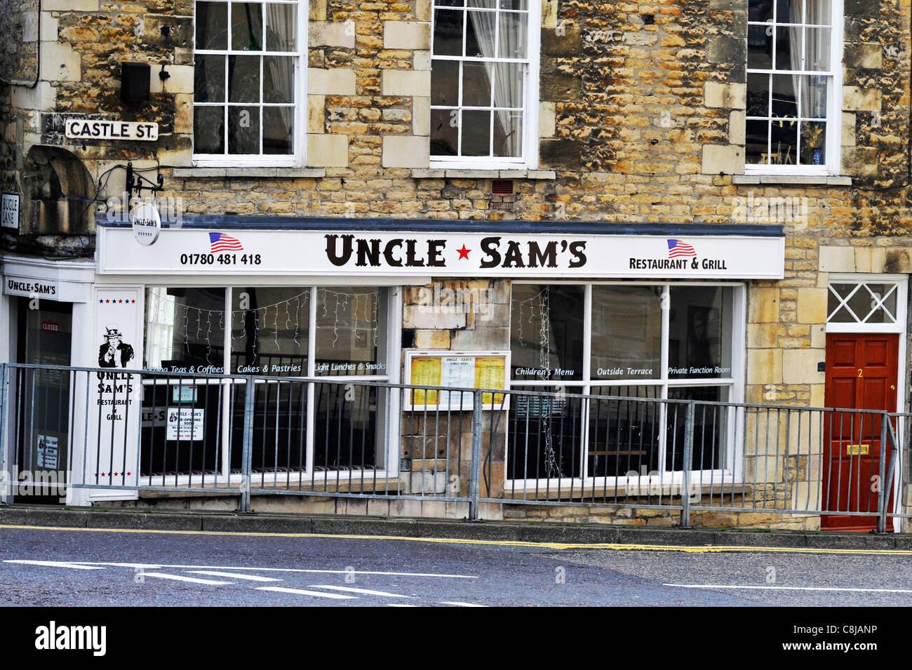 Los tíos sams restaurante y asador en Stamford, Inglaterra. Imagen De Stock
