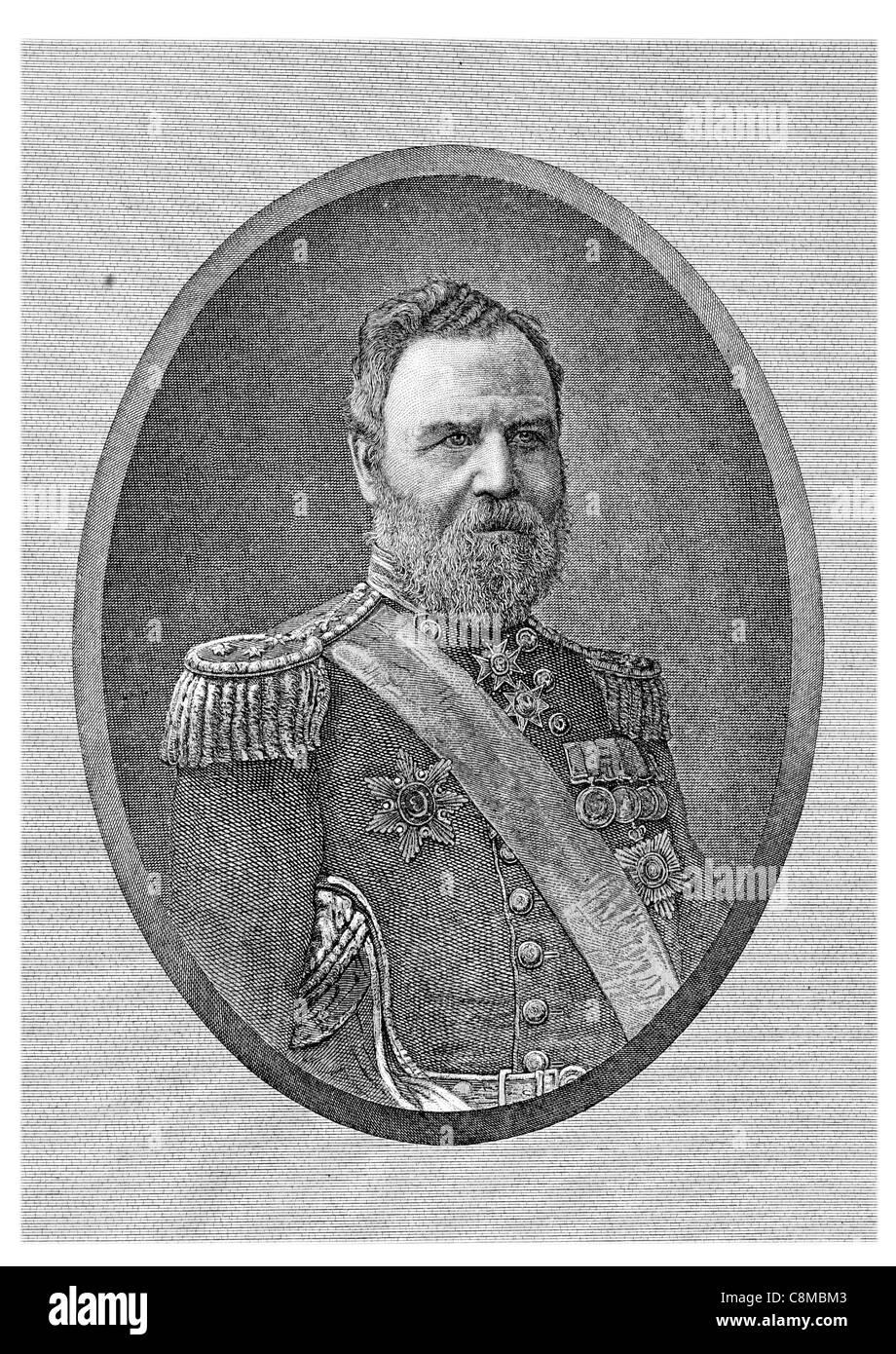 Almirante Frederick Beauchamp Paget Seymour, 1er Barón Alcester 1821 1895 British naval Comandante en Jefe de la flota del canal Foto de stock