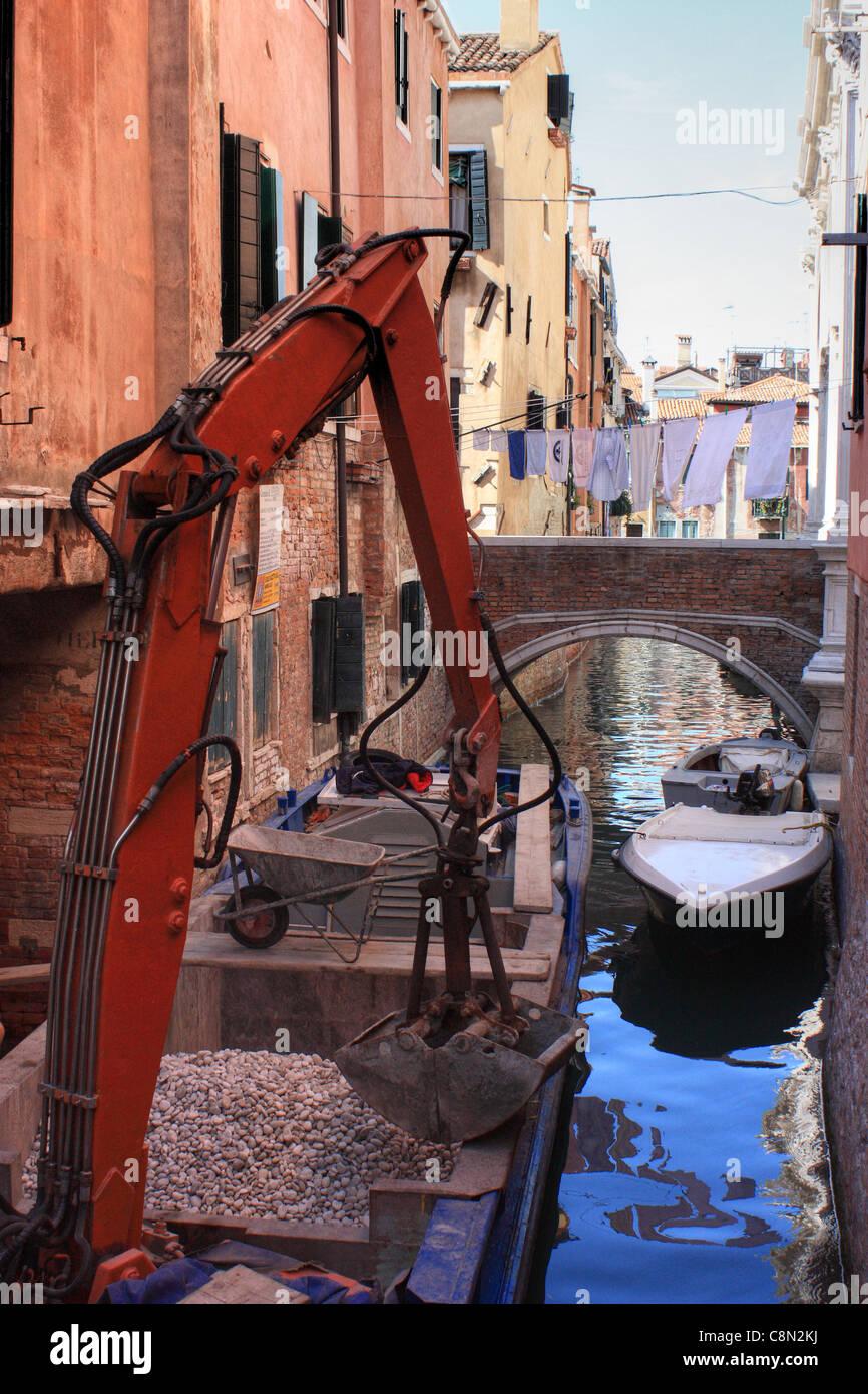 Las obras de construcción, Venecia Foto de stock