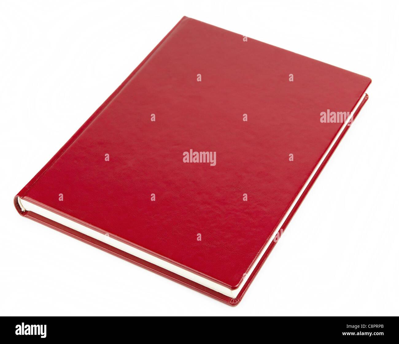 Portada del libro rojo en blanco Imagen De Stock