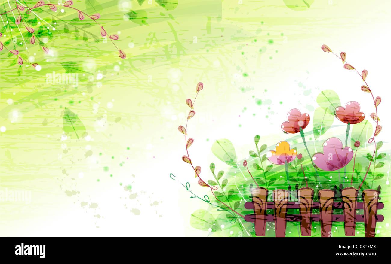 Antecedentes Flora Imagen De Stock