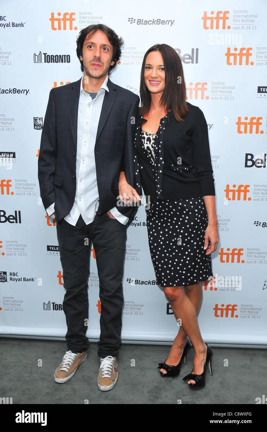 Stefano Chiantini, Asia Argento Photo Call para islas foto llamada en el Festival Internacional de Cine de Toronto, Imagen De Stock