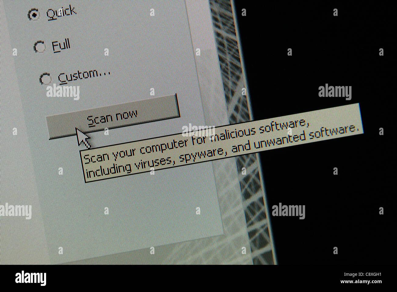 Virus de computadora spyware scan detecta Imagen De Stock