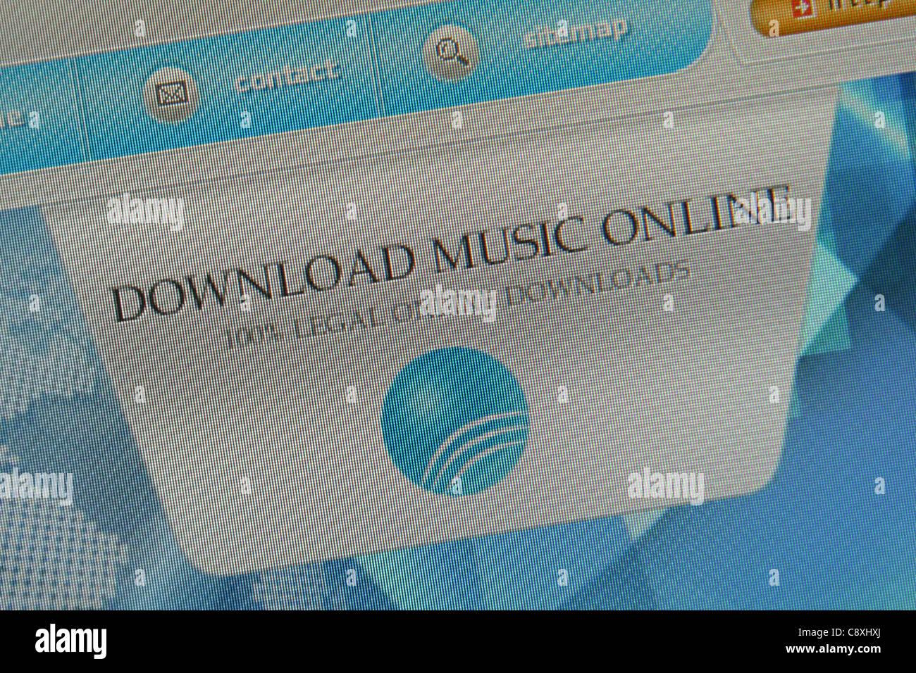 Descargar música online Imagen De Stock