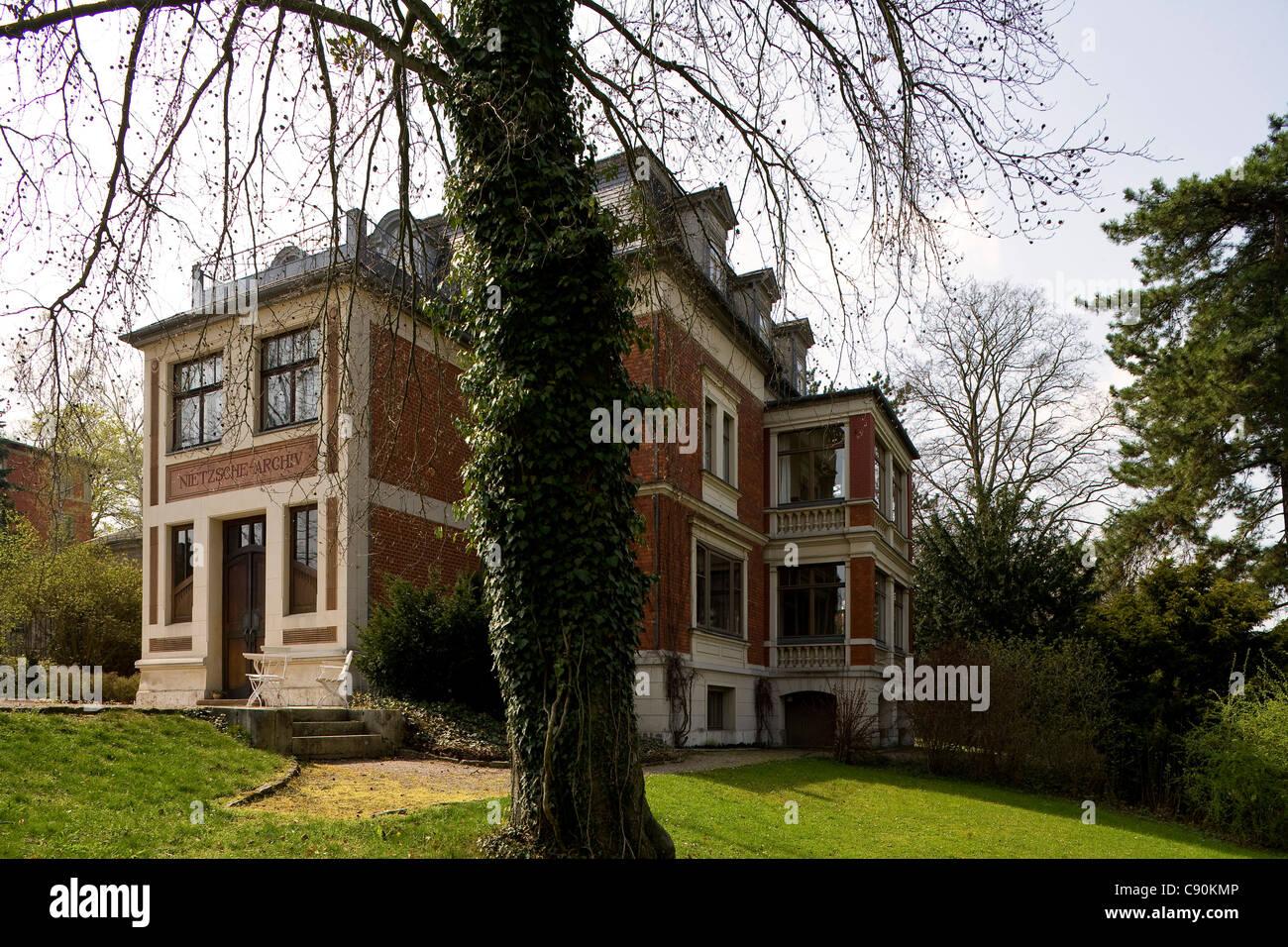 Nietzsche Archive, Weimar, Turingia, Alemania, Europa Imagen De Stock