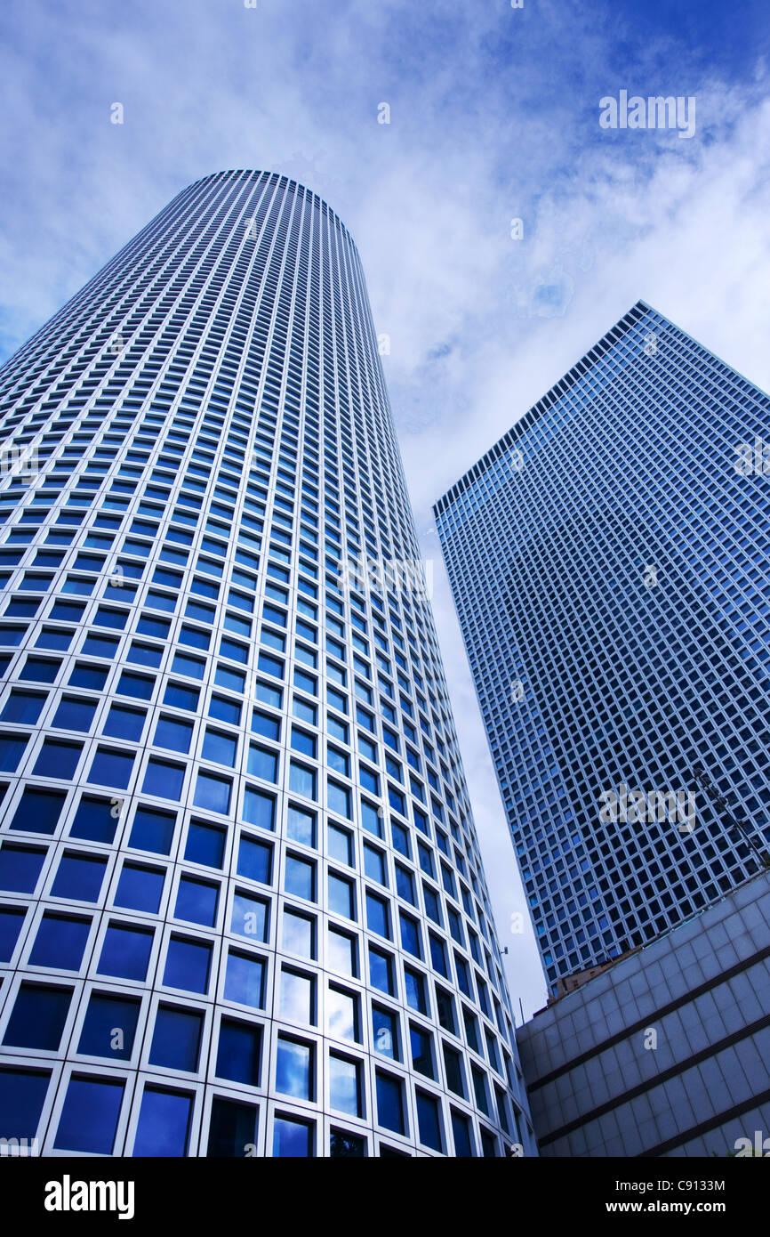 Edificio del Centro Azrieli en Tel Aviv, Israel Imagen De Stock