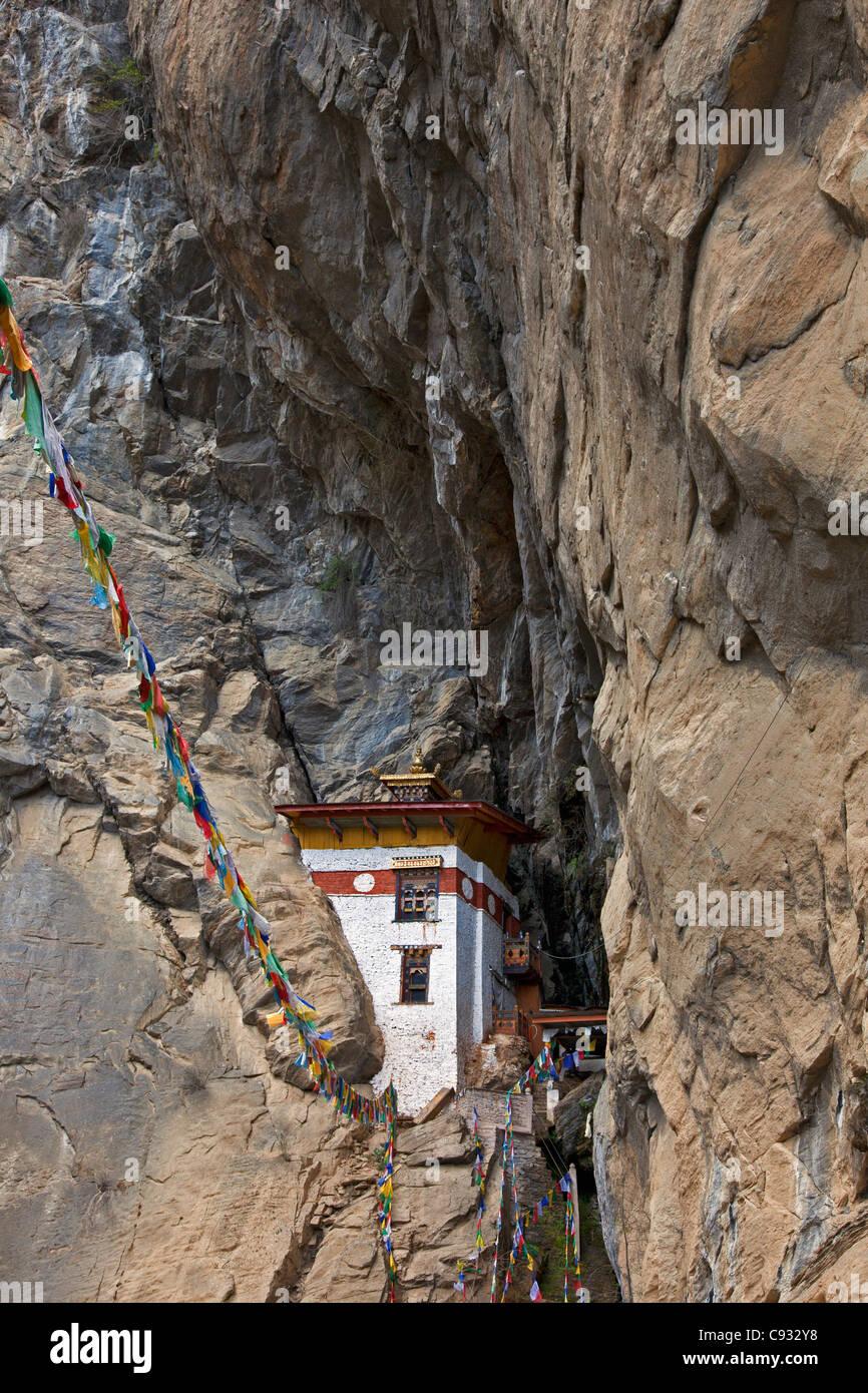 La Singye Phu Lkhang un retiro de meditación. Foto de stock