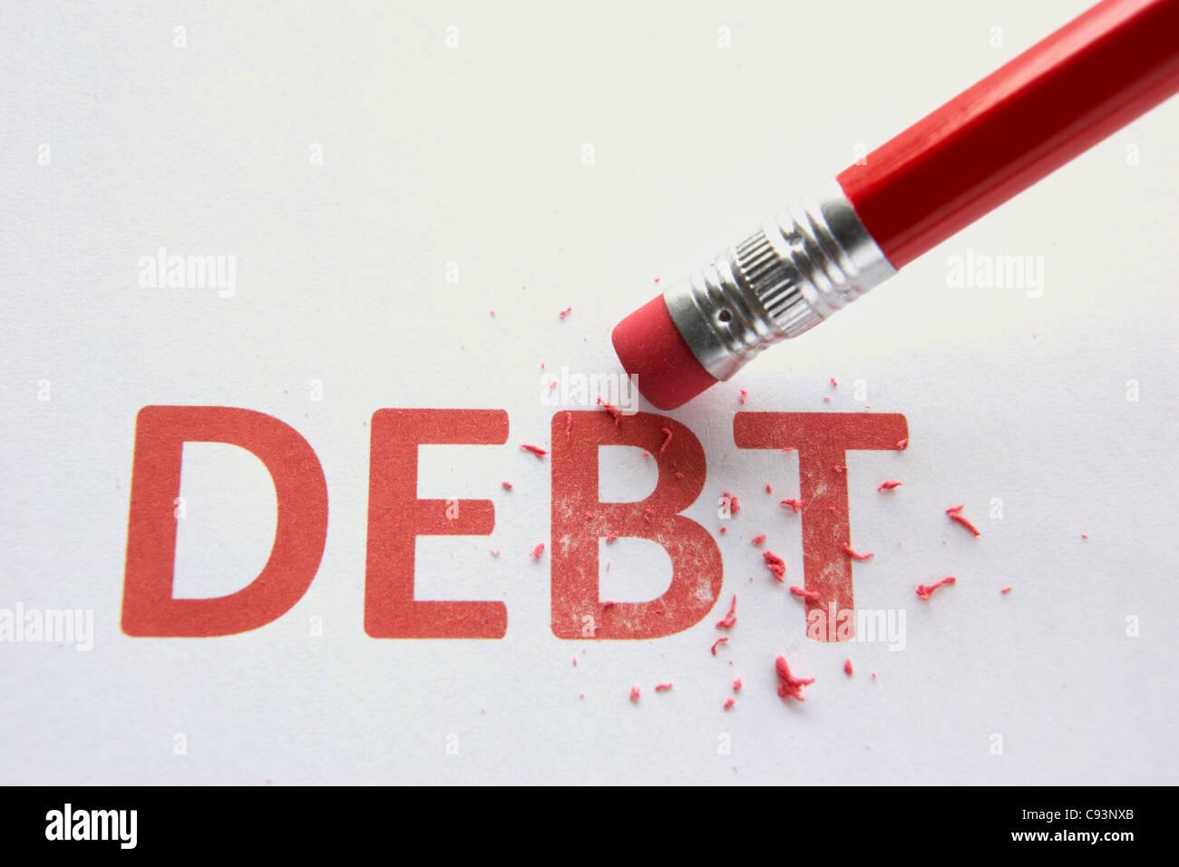 Eliminación de deuda Foto de stock