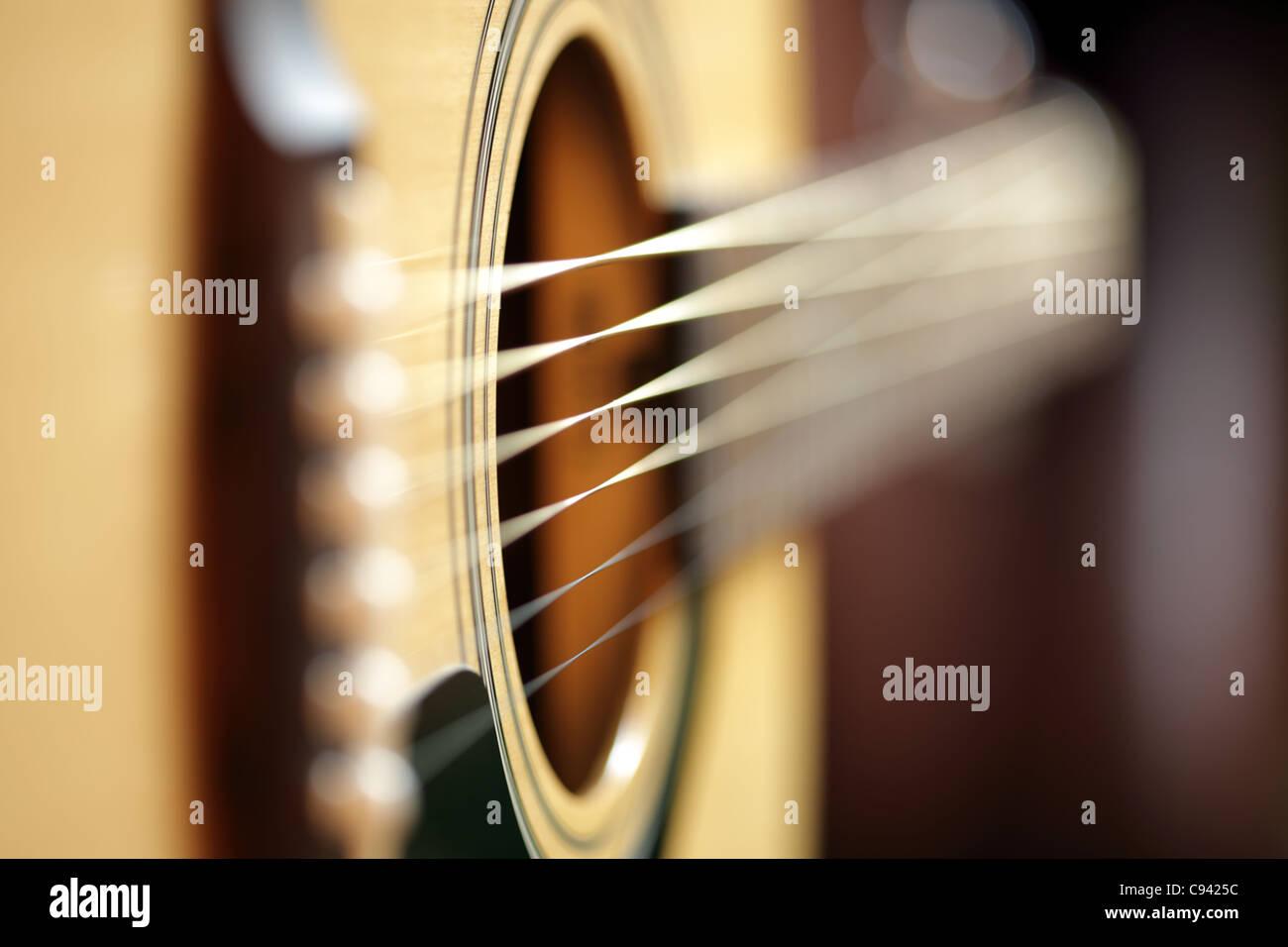 Resumen de guitarra acústica Foto de stock