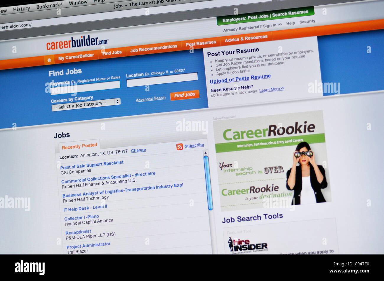 Careerbuilder Online Job Imágenes De Stock & Careerbuilder
