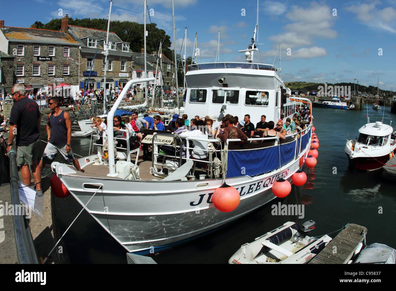 Padstow; Jubileo Reina viaje; Cornwall; UK Imagen De Stock
