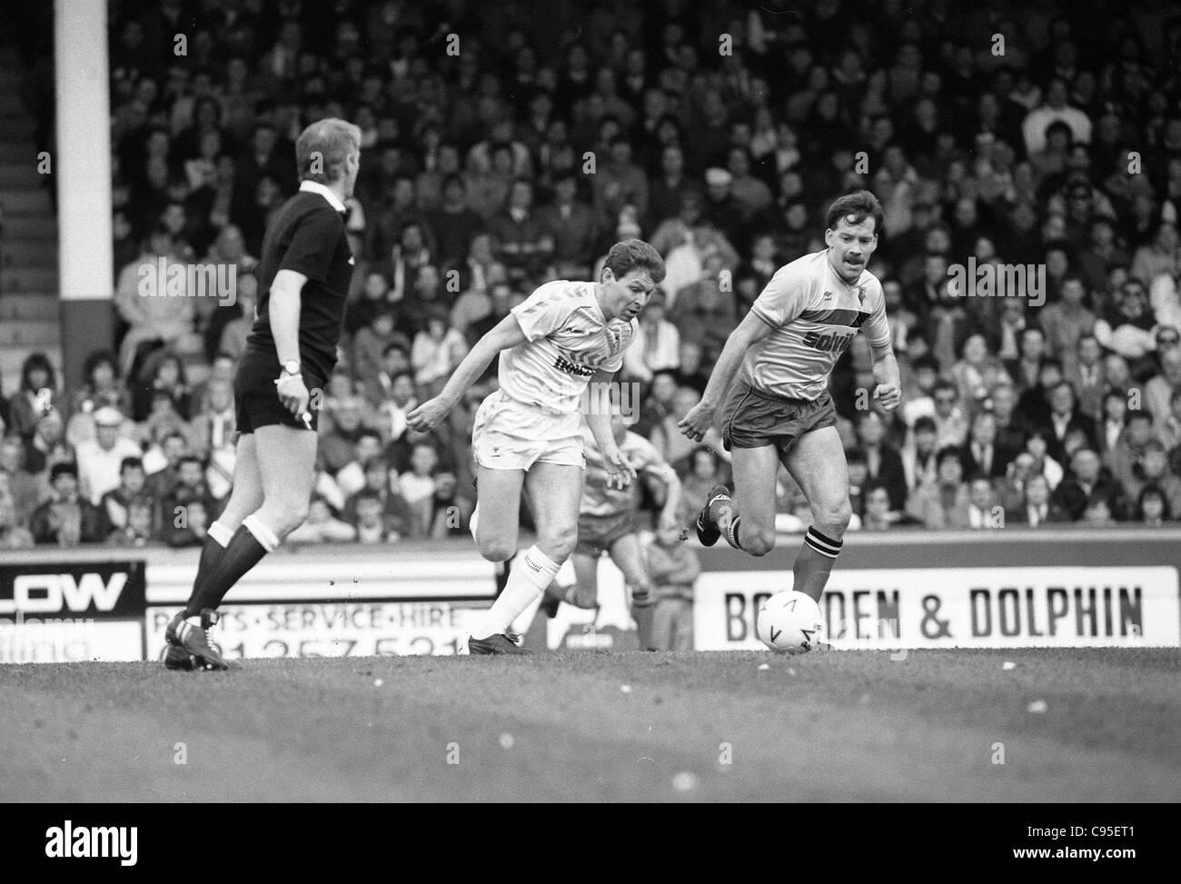 Tottenham Hotspur v Watford 11/4/87 Clive Allen y Steve Sims FA Cup 1987 Semi-final Foto de stock