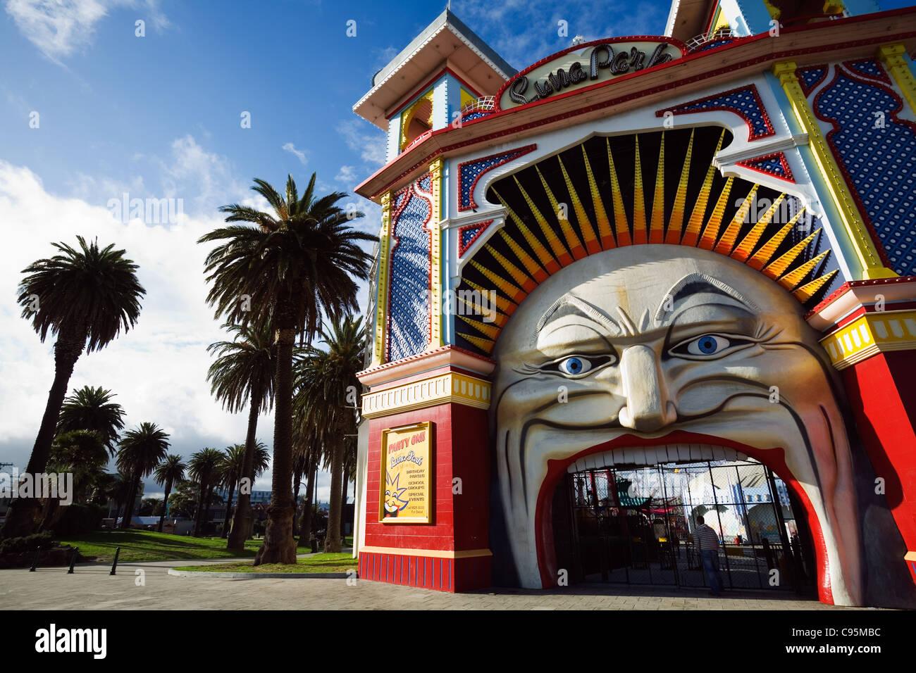 Luna Park en St Kilda en Melbourne, Victoria, Australia Imagen De Stock
