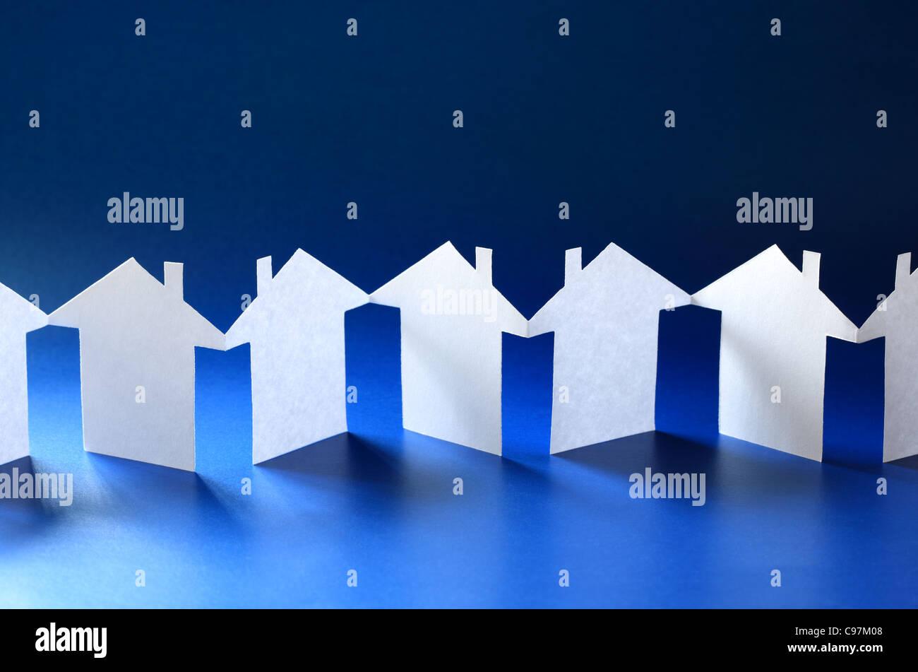 Comunidad cadena de papel Imagen De Stock