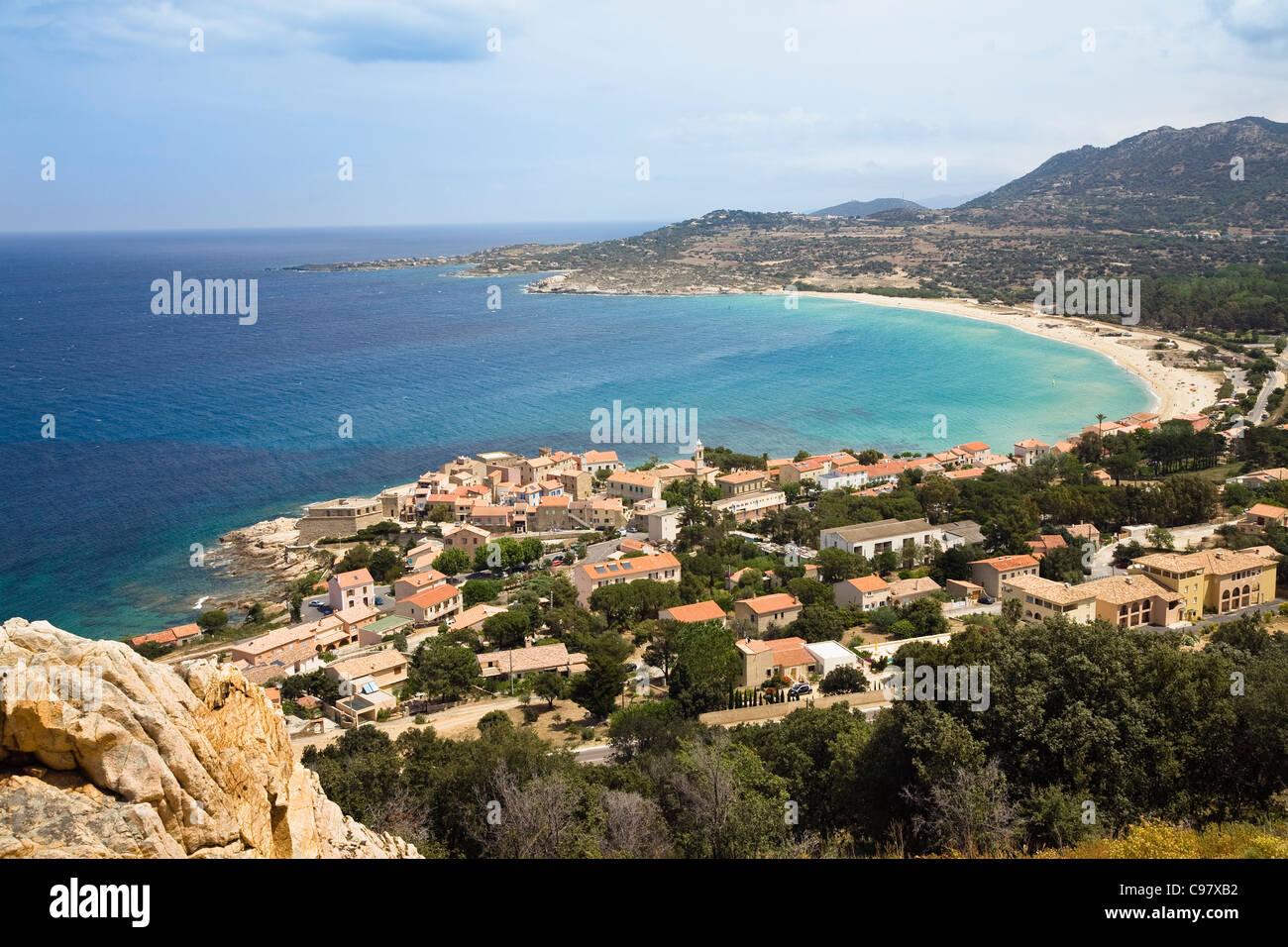 Algajola, costa noroeste, la región de Balagne, Córcega, Francia, Europa Foto de stock