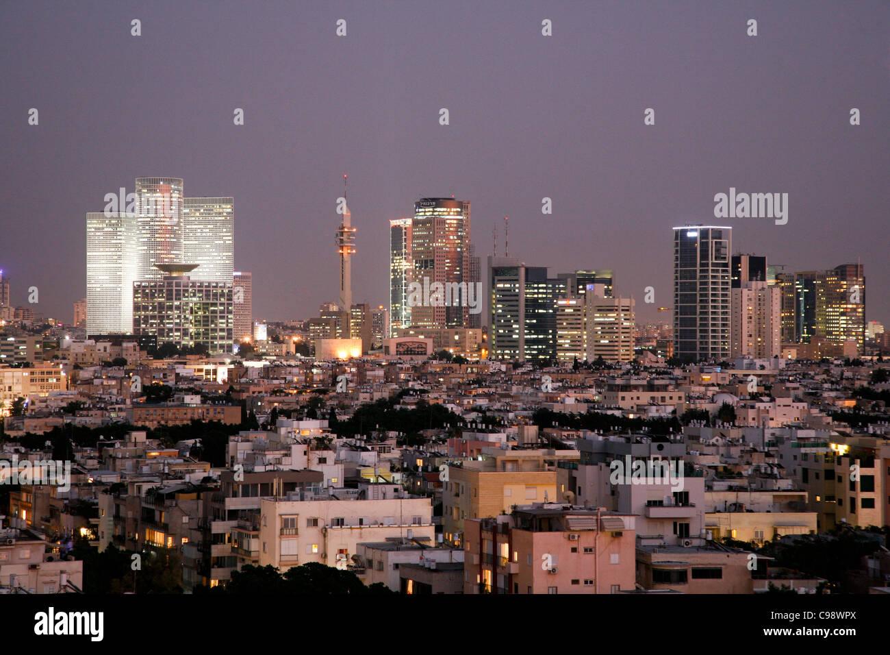Vistas panorámicas de la ciudad de Tel Aviv, Israel. Imagen De Stock