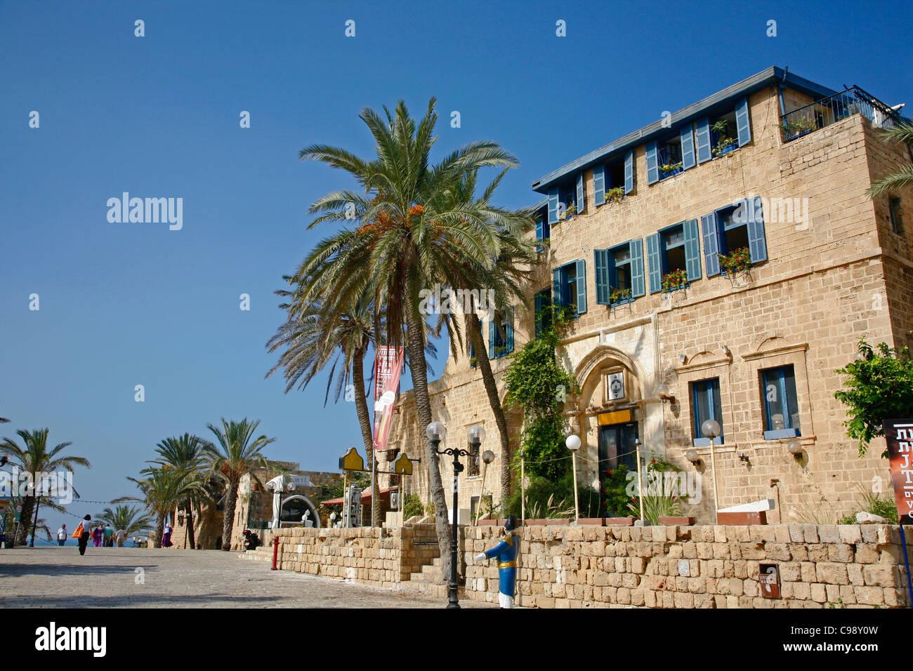 Kdumim plaza vieja de Jaffa, Tel Aviv, Israel. Imagen De Stock