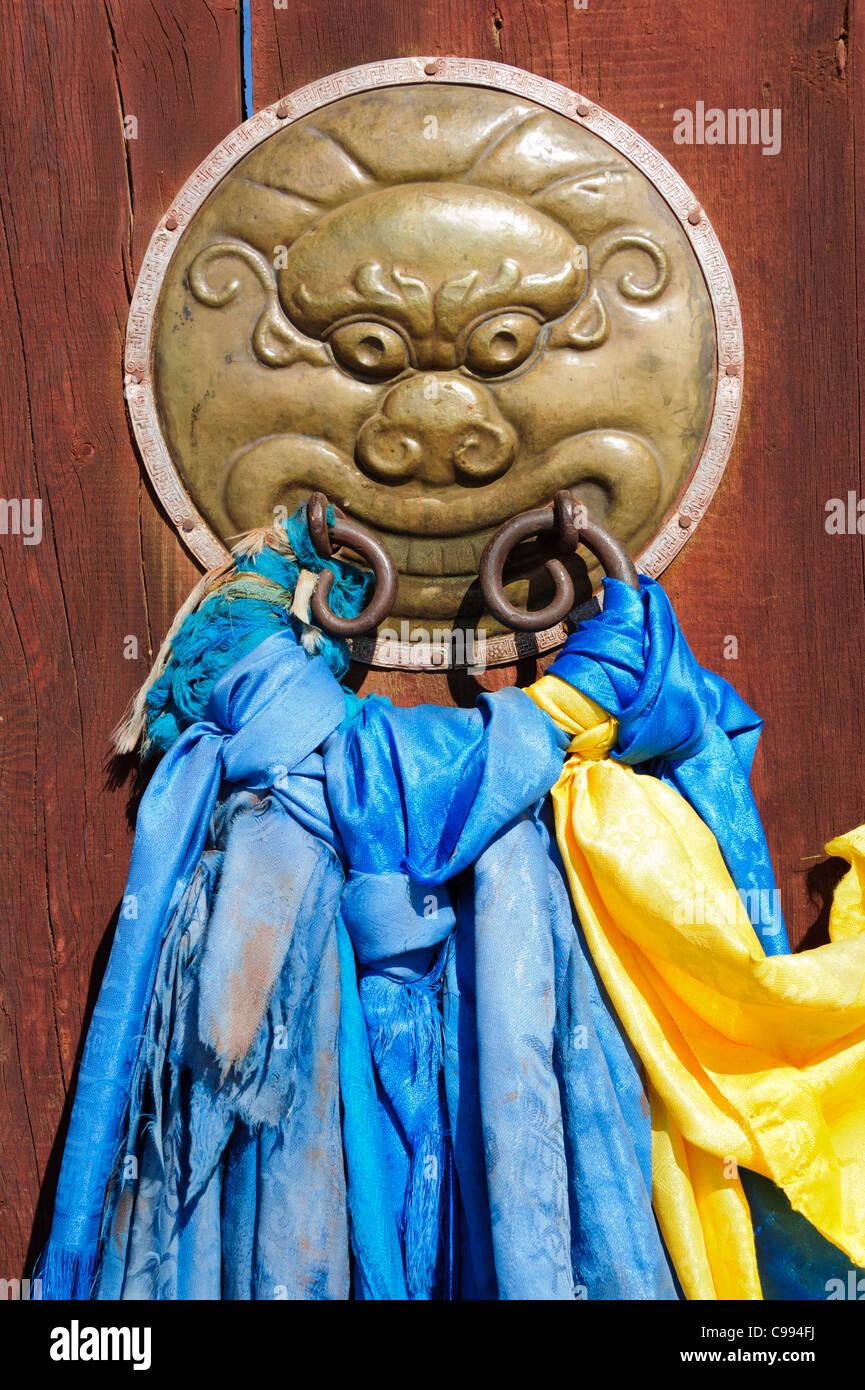 Entrada del monasterio Shankh (khiid), Mongolia Foto de stock