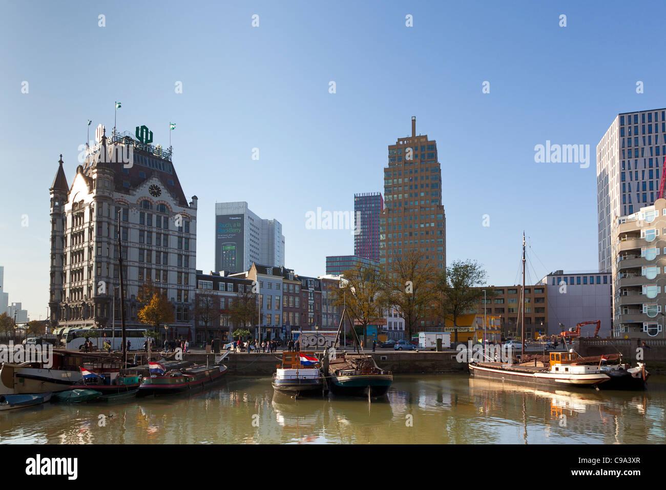Antiguo puerto interior en Rotterdam Imagen De Stock