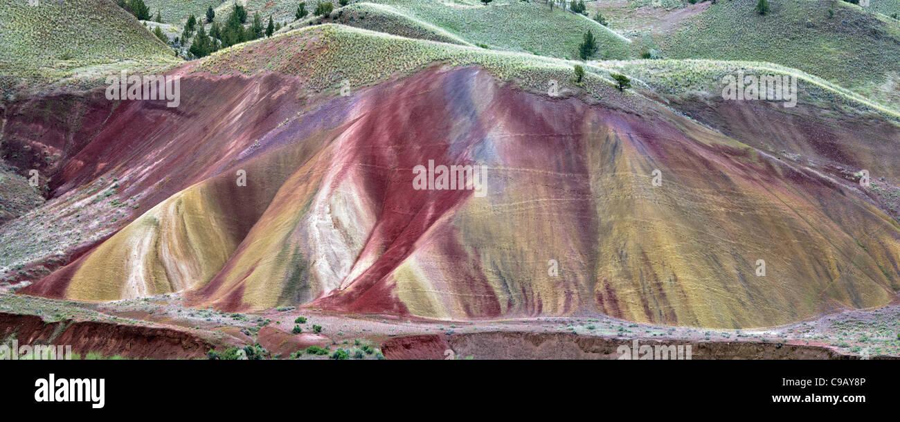 Cerros pintados. John Día Foissil camas monumento nacional. Oregon Imagen De Stock
