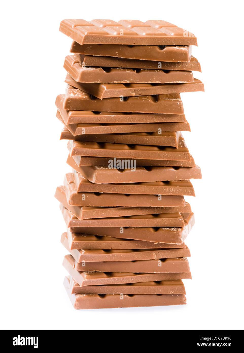 Pila de chocolate. Imagen De Stock
