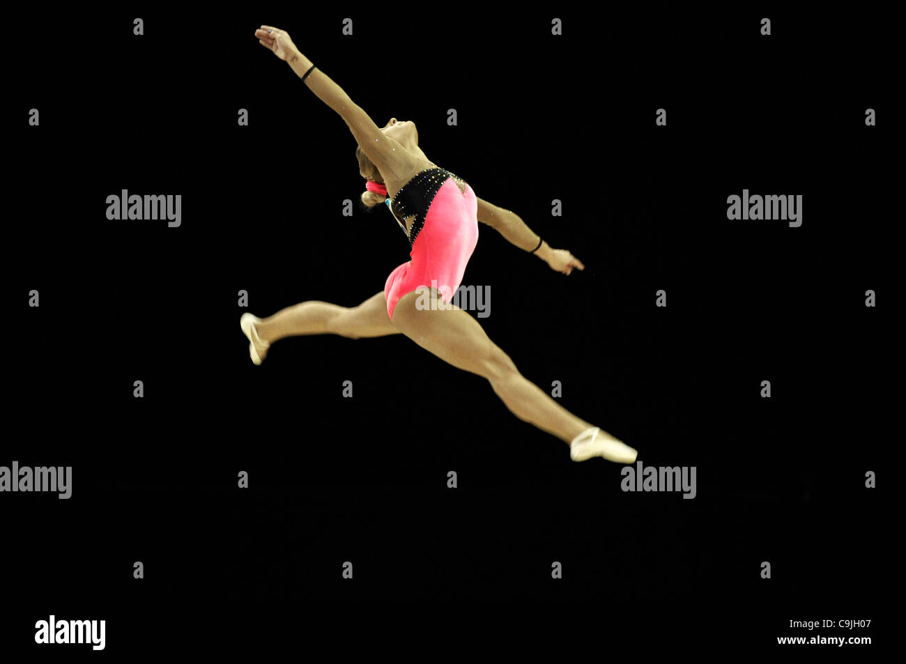 13.01.2012 Londres prepara un Evento de Prueba Olímpico Serie Gimnasia North Greenwich London UK Arena Señoras Imagen De Stock