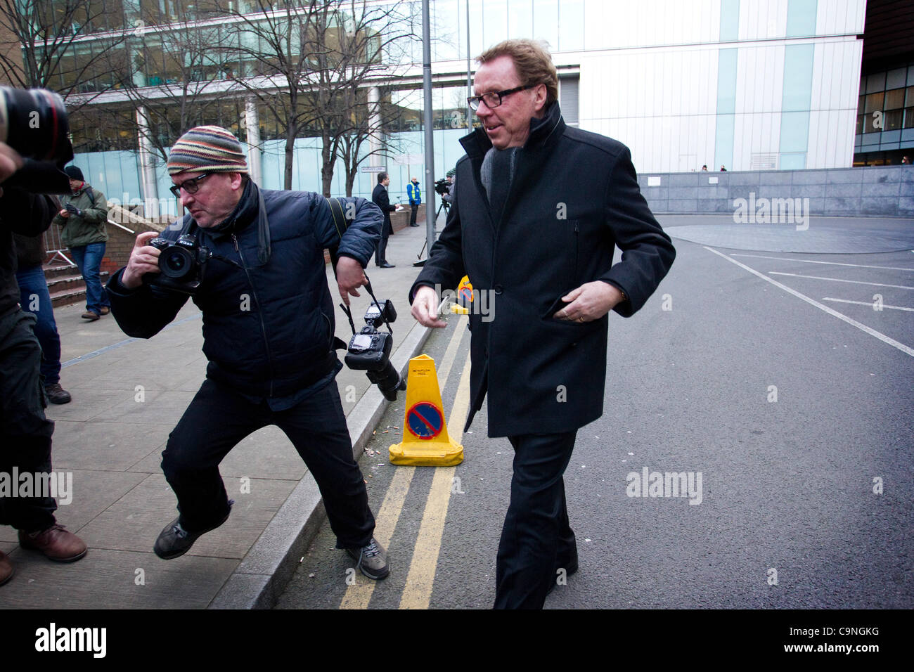 Southwark Crown Court, Londres, Reino Unido. 01.02.2012 Harry Redknapp llega en Southwark Crown Court por su evasión Imagen De Stock
