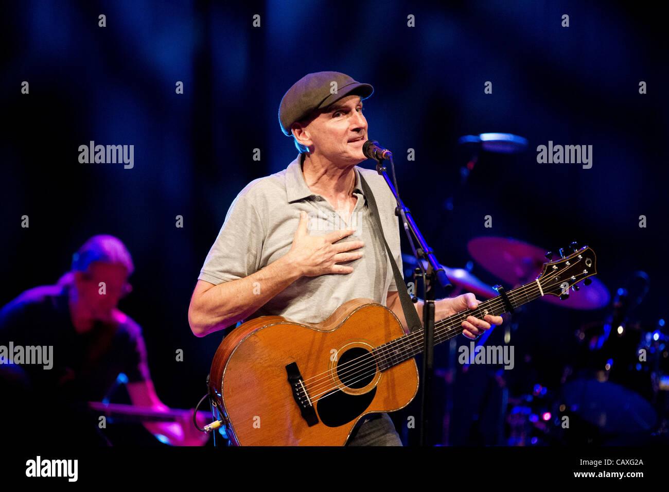James Taylor representada en concierto en el auditorio bozar
