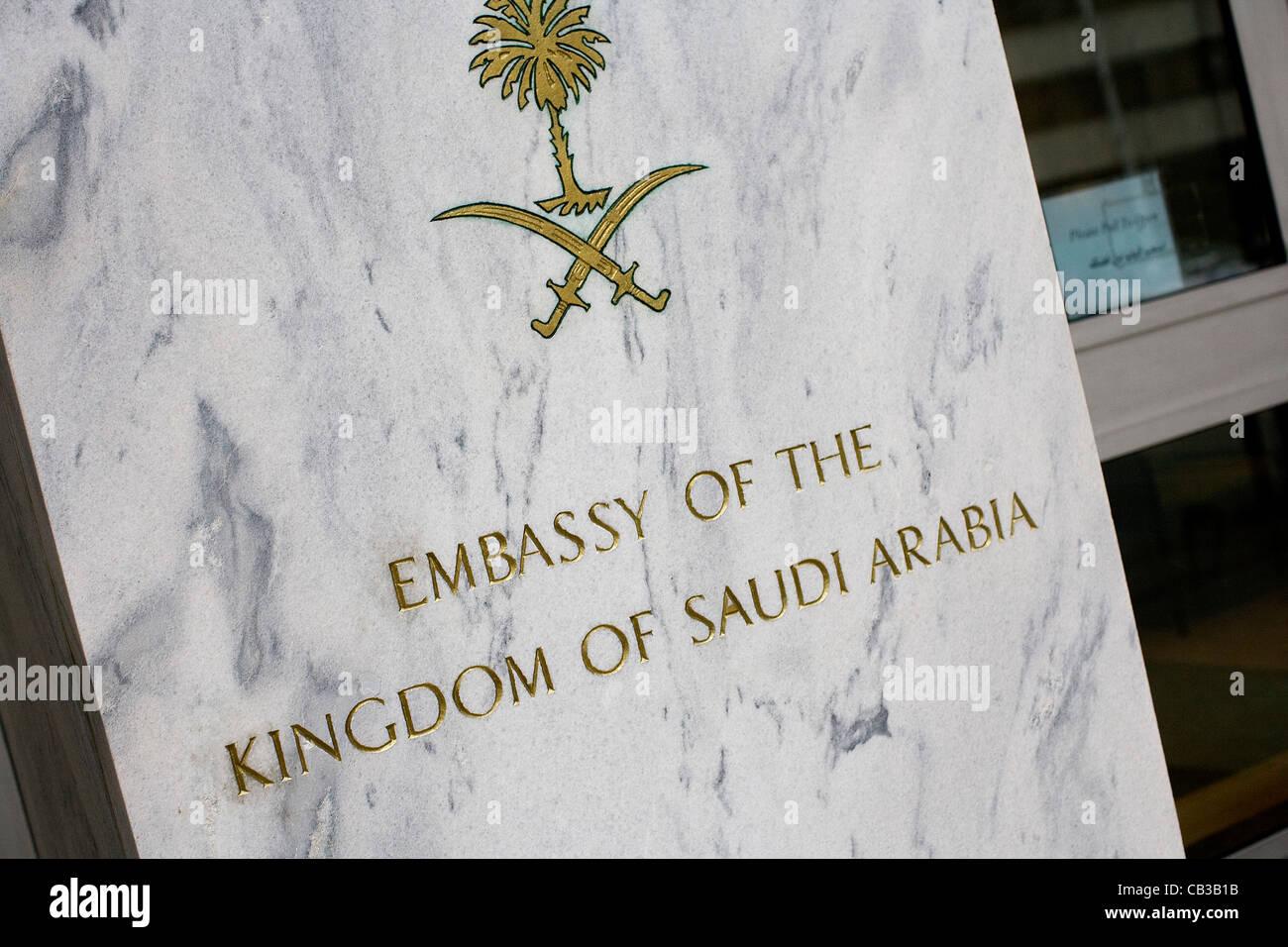 La Embajada del Reino de Arabia Saudita en Washington, DC. Imagen De Stock